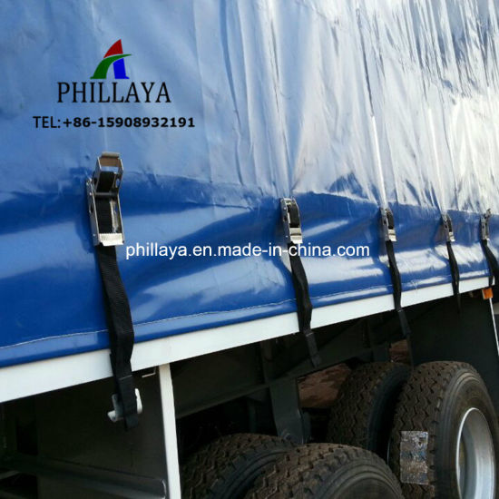 PVC Tarpaulin Enclosed Cargo Transport Truck Semi Curtain Side Trailer pictures & photos