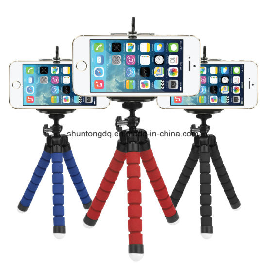 Mini Flexible Sponge Octopus Tripod for iPhone Samsung Xiaomi Huawei Mobile Phone Smartphone Tripod for Gopro Camera Accessory pictures & photos