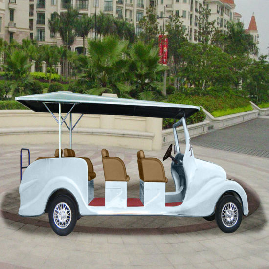 Cheap 8 Seaters White Electric Vehicle pictures & photos