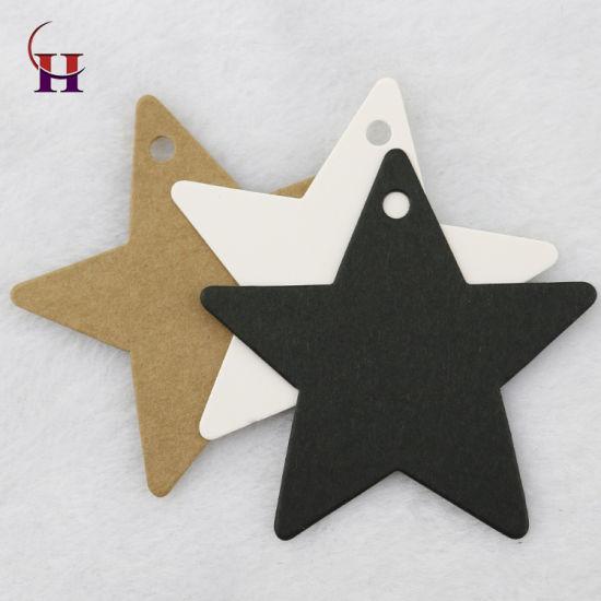 Star Shape Kraft Paper Printing Hang Tag