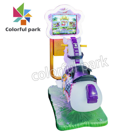 China Colorful Park Kids Horse Racing Game Machine For Sale Coin Operated Kids Ride On Car China Children Ride And Kids Riding Price