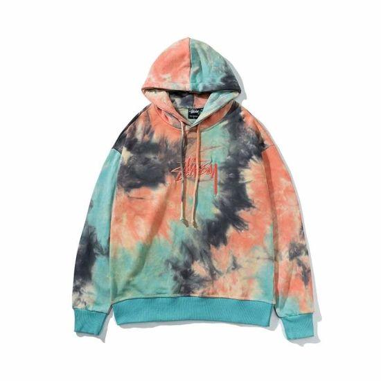 Wholesale Custom Cotton Blank Men/Women Tie Dye Terry Cloth Hoodies