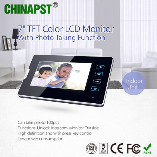 Hottest 7inch TFT Color LCD Touch Key Indoor Monitor with Adapter (PST-VDI33T)