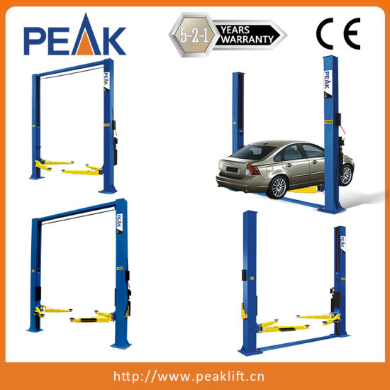 Clearfloor Chain-Drived Garage Two Post Car Lift (208C) pictures & photos