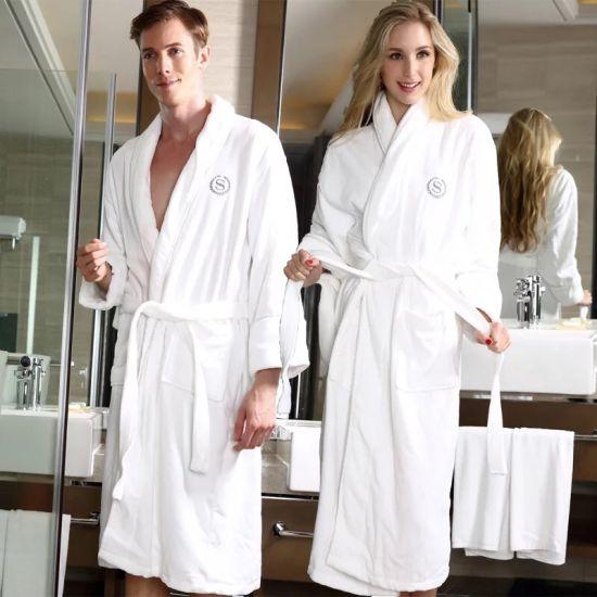 Wholesale High Quality 100% Cotton Five Star Hotel Velour Bath Robes