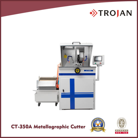 CT 350A Variable Speed Table/Wheel Manual Metallographic Abrasive Saw Cutter
