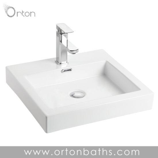 China Drop In Self Rimming Bathroom Sink China Wash Basins