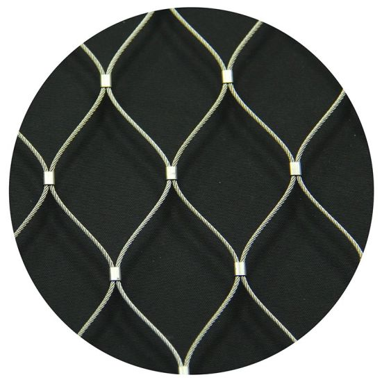 50*106 Flexible SS316 Wire Rope Mesh 1.5mm