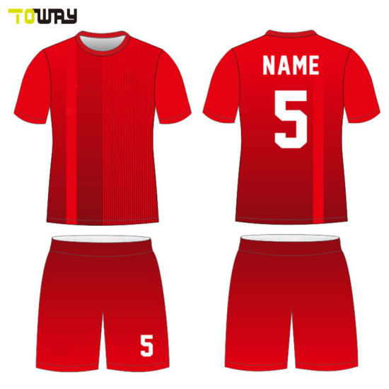 82d95a341 China New Red White Soccer Jersey Design Patterns - China Soccer ...