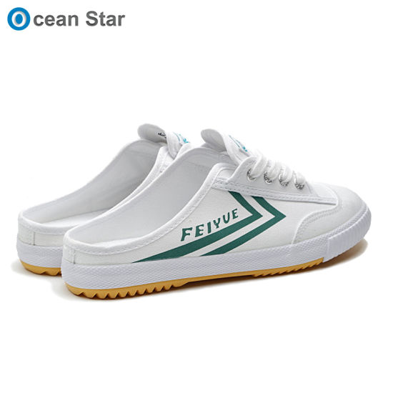 2019 Summer Men Women Semi Slippers Casual Canvas Feiyue