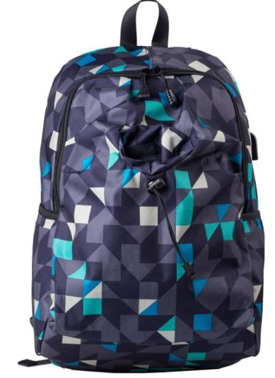 Junior High School Student Backpack Computer Backpack Large Capacity Outdoor Leisure Mountaineering Oxford Textile Camouflage Travel Bag