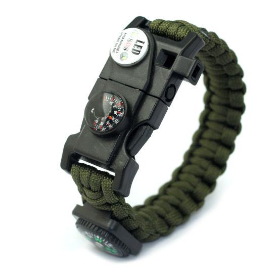 Hot Sale Self-Rescue Paracord Bracelet Weaves Survival Kit Gadgets Bracelet