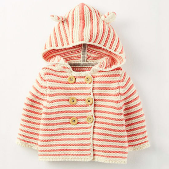 Manufacturer Custom Print Design Winter Cartoon Knitted Cotton Kids Coat for Boy Girl