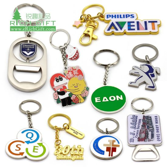 No Minimum Custom Made Personalized Logo Shaped Epoxy Coin Holder Car Enamel Key Ring Wholesale Souvenir Bottle Opener Sublimation Blank House 3D Metal Keychain pictures & photos