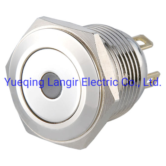 16mm Short Body Resetable Metal LED Push Button Switch