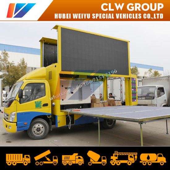 P4 P5 P6 Outdoor Mobile Full Color Display Screen LED Advertising Truck with Stage