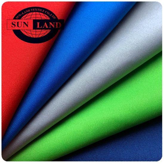 Round Neck Shirts Clohting 100% Polyester DTY 75D72f Circular Knitting Interlock Jersey Fabric