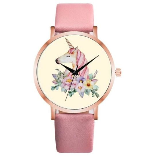 Fashion Cute Unicorn Animal Watch Women Girl Leather Strap Analog Quartz Watch for Women Relojes De Mujer Montres Femme pictures & photos