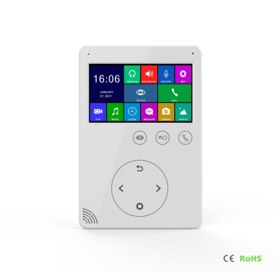 4.3 Inches Home Security Interphone Memory Video Door Phone pictures & photos