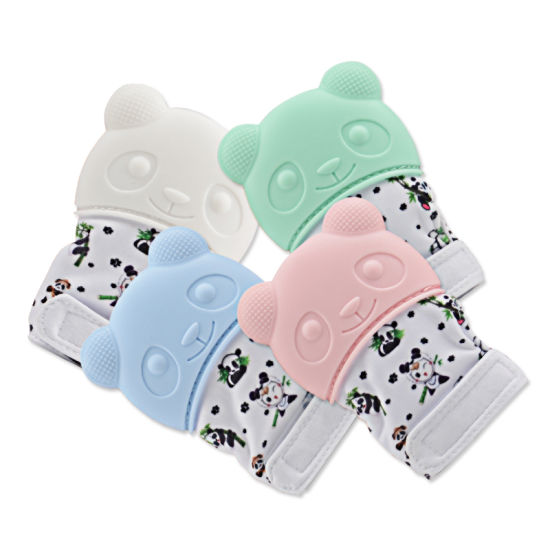 Food Grade Silicone Molar Gloves Baby Teething Glove Panda Baby Gloves Teether Chew Toy Baby Products