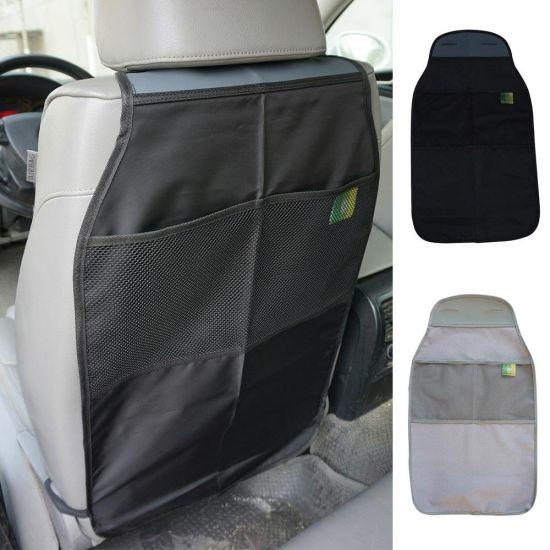 2 PCS Universal Kick Mats Car Seat Back Protector Cover with Storage Organizer Pocket