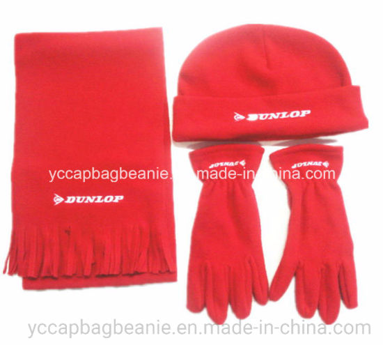 Fashion Polar Fleece Hat, Scarf, Glove Sets