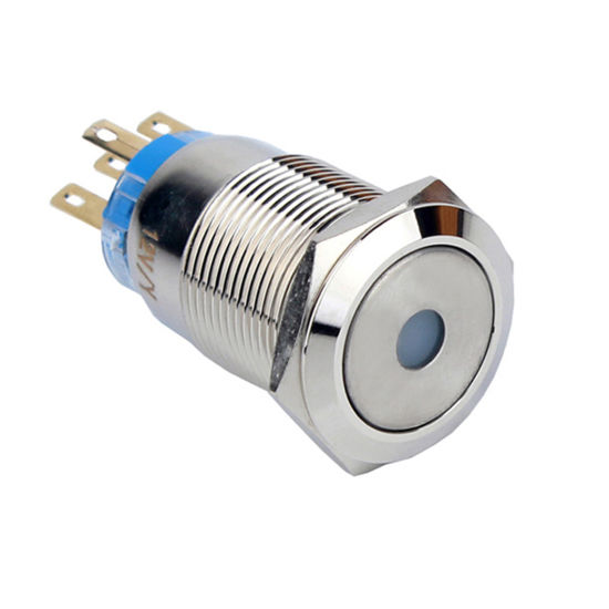 19mm 12V LED Illuminated on off Car Push Button Switch with Wire Harness