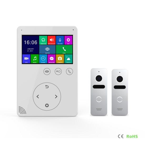 Memory 4.3 Inches Home Security Doorbell Video Doorphone Intercom Door Bell