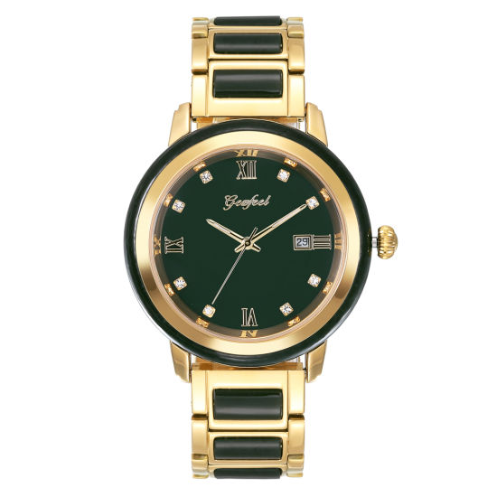 Novelty Timepiece Japan Movt Premium Nephrite Jade Wrist Watch Men