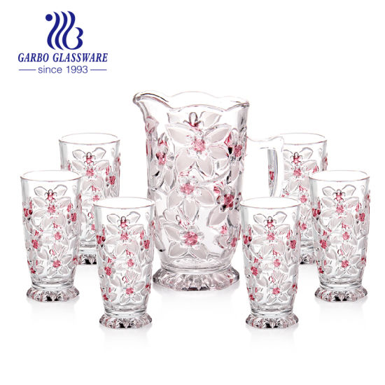 7PCS Promotion Gift Water Drinking Glass Tableware Jug Bottle Cup Set pictures & photos