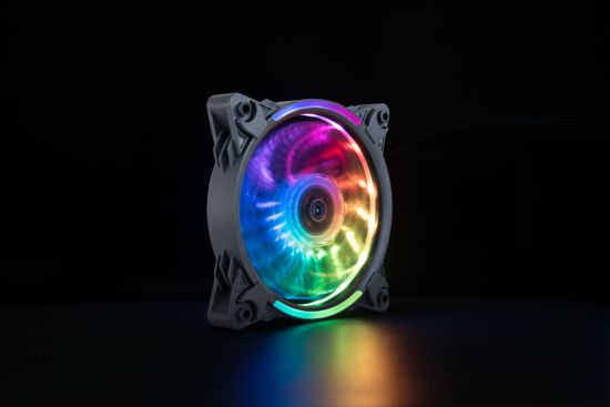 Wireless RGB LED 120mm Case Fan, Quiet Edition High Airflow Adjustable Color LED Case Fan for PC Cases, CPU Coolers, Radiators System OEM Factory