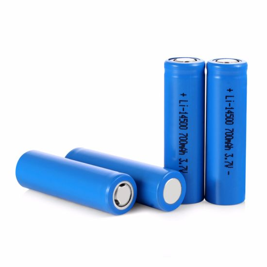 China Aa Size Lithium Ion 3 7v 14500 Rechargeable Battery With Ce Rohs Msds China Lithium Battery And Rechargeable Battery Price