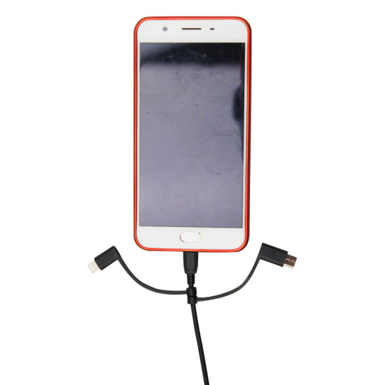 Wireless Charger with 3 in 1 Retractable USB Cable. Fast Charging Wireless Charger and USB Cable. Micro USB Cable, Type C Cable and Lightning Cable