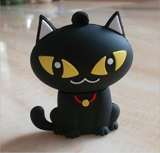 PVC Cat Shape USB Flash Drive 1GB2GB/8g/16g/32g/64G USB Memory Stick for Customized Logo