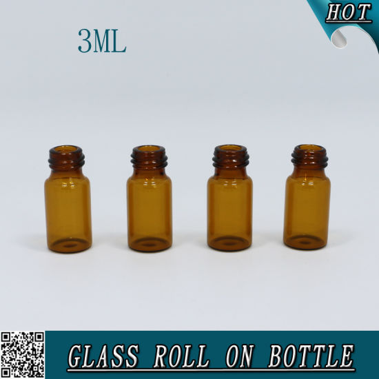 3ml Empty Glass Roll on Perfume Bottle Amber pictures & photos