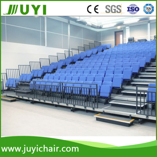 Telescopic Bleacher Retractable Indoor Gym Bleachers Fabric Bleacher Jy-768r pictures & photos