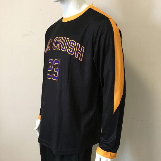 f99798b0fb1 Custom Sublimated Long Sleeve Basketball Shooting Shirts Warm up Shirts