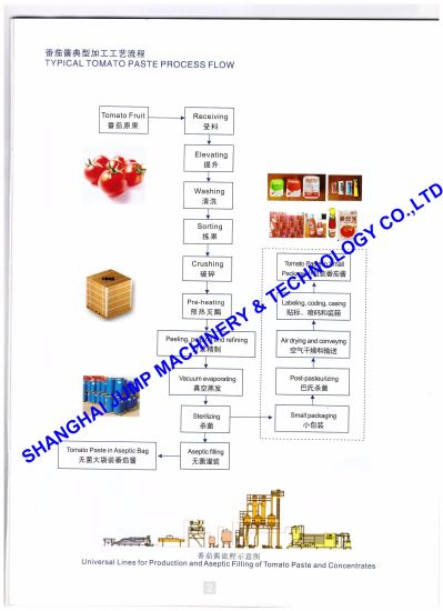 china world outstanding tomatoes processing plant china tomatoes rh sinojump en made in china com Engineering Process Flow Diagram Process Flow Chart