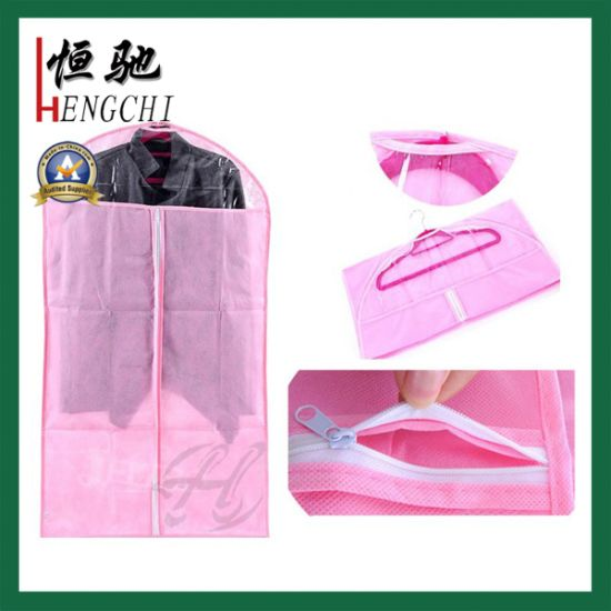 Factory Made Non Woven Garment Bag with Clear Window