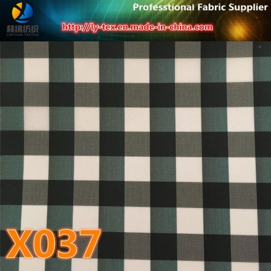 Wholesale Polyester Popular Check Textile Windproof Fabric for Garment (X035-37) pictures & photos