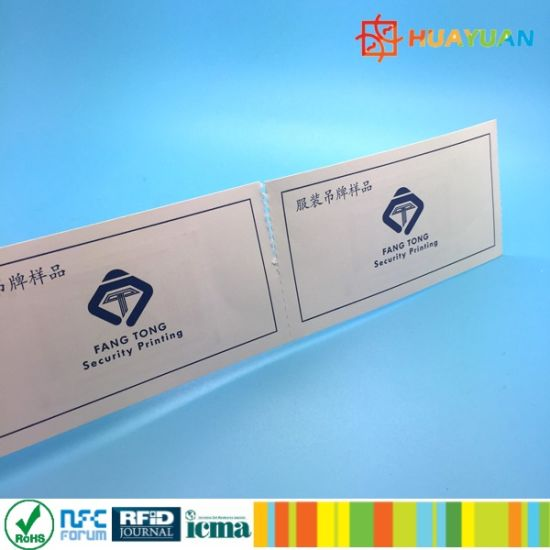 Custom Perforated ISO14443A HF E-ticket card for scenic region management pictures & photos