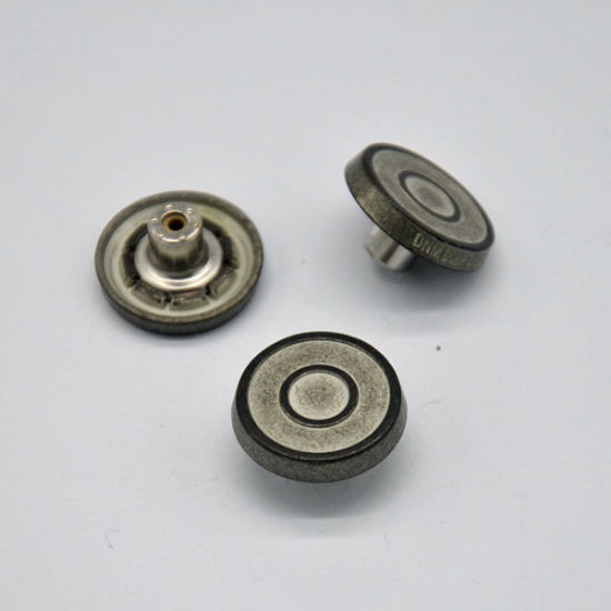 Contrasted Tin Jeans Button for Jacket
