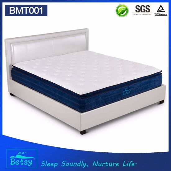 OEM Comprerssed Waterproof Mattress 30cm High with Relaxing Pocket Spring and Massage Wave Foam Layer pictures & photos