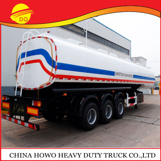 Factory Directly Sale 3axle 45000 Liters Liter Fuel Oil Water Aluminum Tanker Box Trailer for Sale pictures & photos