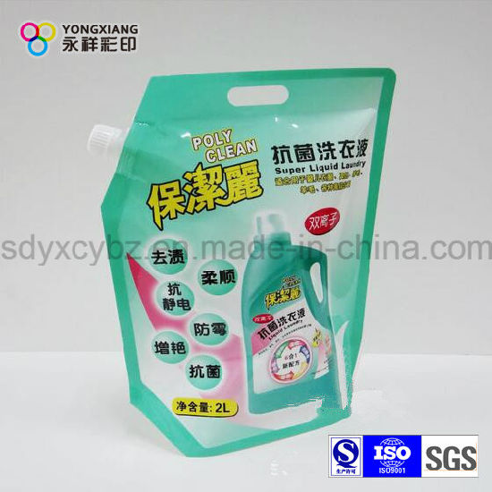 Size Customized Stand up Liquid Spout Bag for Laundry Detergent pictures & photos