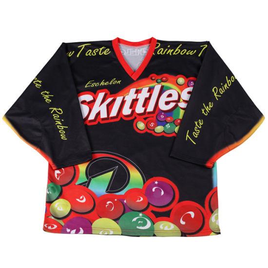 Wholesale Game Practice Sublimated Hockey Jerseys Club Training Hockey Shorts Socks Polyester Hockey Shirt