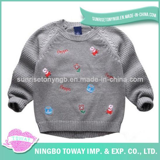 China Hot Wool Cotton Girl Kid Hand Knitted Sweater - China Girl Kid ...