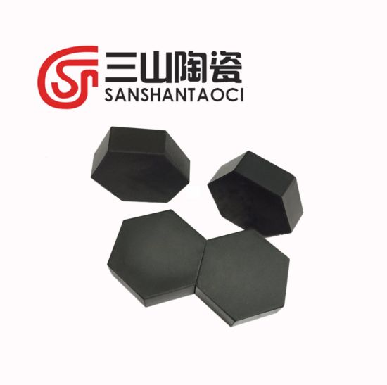 Hexagonal Silicon Carbide Ceramic Plate Strike Face 30*30*10mm pictures & photos