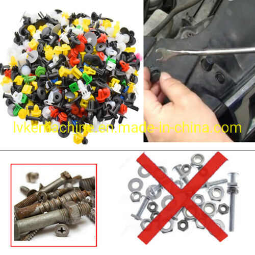 500Pcs//Box Car Auto Door Panel Fenders Bumper Rivet Retainer Push Pin Clips Trim