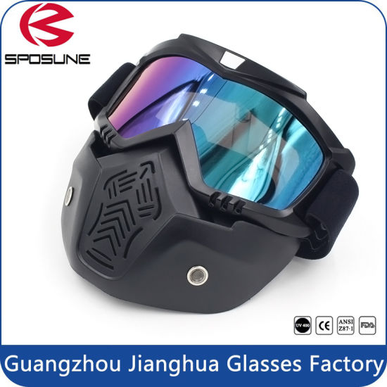 0ca688714d8 Motorcycle Motocross Face Mask with Detachable Goggles and Mouth Filter for  Modular Moto Helmets. Get Latest Price